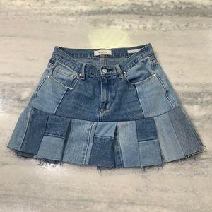 PacSun Denim Patchwork Mini Skirt